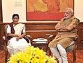External Affairs Minister Sushma Swaraj meets PM Modi on 3 June 2014.jpg