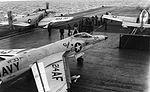 F11F-1 Tiger and AD-6 Skyraiders on USS Intrepid (CVA-11) on 18 November 1960 (NNAM.1996.253.7415.028).jpg