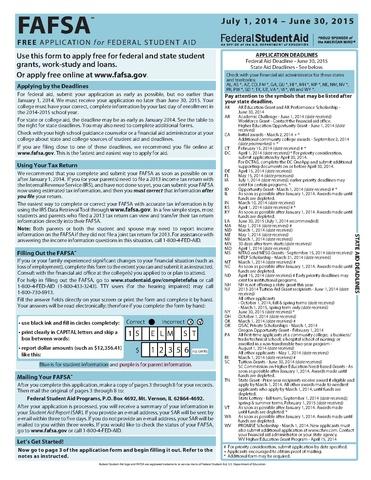 fafsa ed gov free application