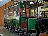 Railcar 8 of the FOTG in the Frankfurt Transport Museum in Frankfurt am Main-Schwanheim