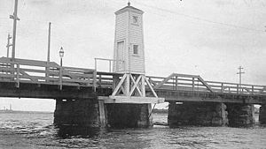 Fairhaven Bridge Light - US Coast Guard photo