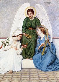 Faith, Hope, and Love, as portraited by Mary Lizzie Macomber (1861–1916).