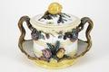 Fajans, bål med lock, 1760-tal - Hallwylska museet - 90564.tif