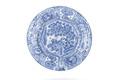 Fat av fajans med blå kinesiserande underglasyrmålning, från cirka 1666-1700 - Skoklosters slott - 93283.tif