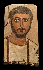 Fayum egyptian funerary portrait 1627 NAMAthens.jpg