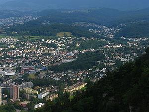 Zimmerberg - Zimmerberg and Sihl Valley as seen from Felsenegg (April 2010)