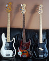 Fender Precision Basses & Fender Jazz Bass (by Don Wright).jpg