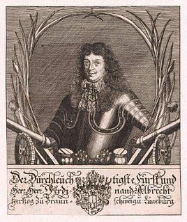 Ferdinand Albert I, Duke of Brunswick-Wolfenbüttel-Bevern First Duke of Brunswick-Bevern