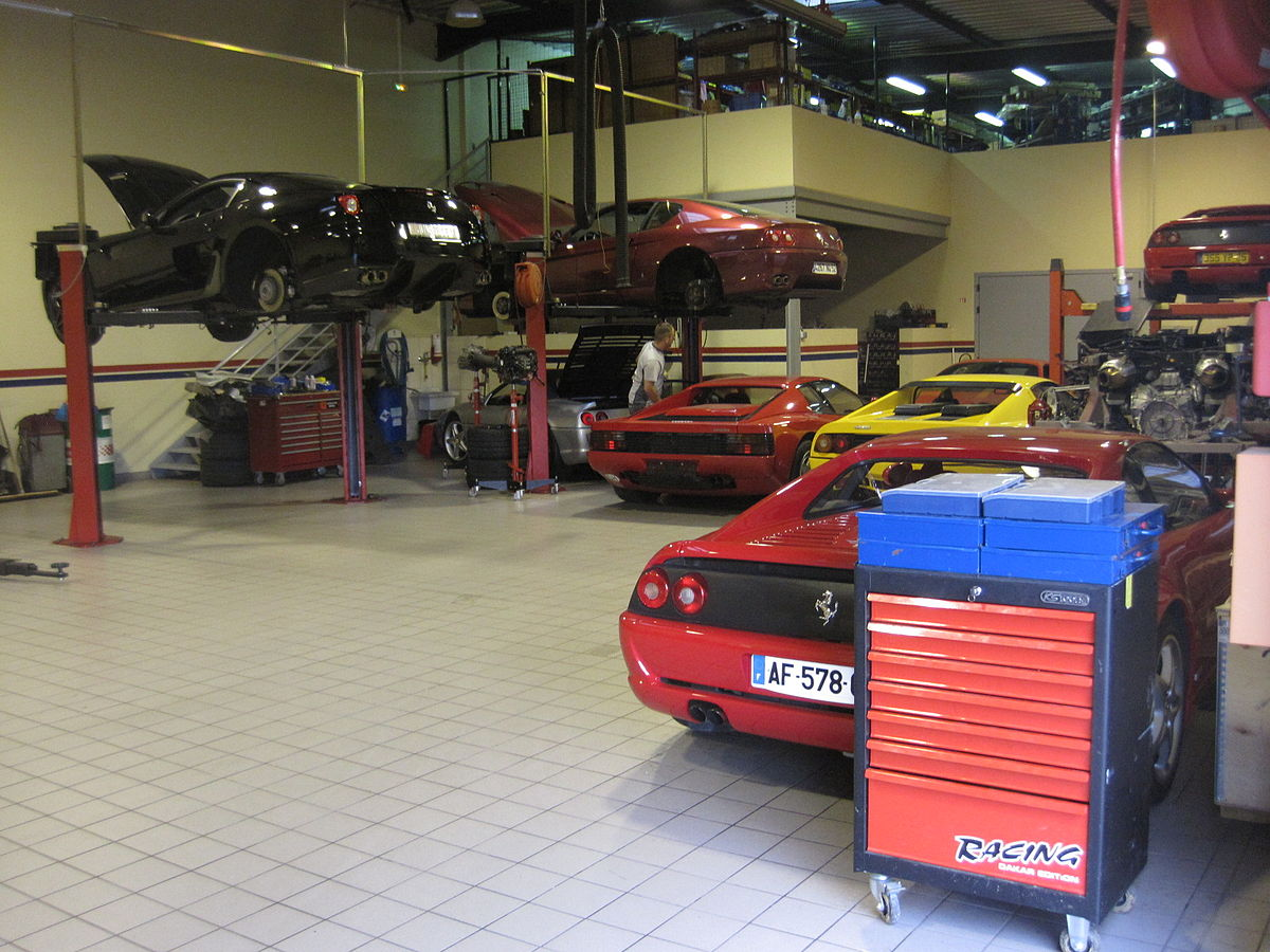 Atelier de r paration automobile wikip dia for Voiture occasion dans un garage