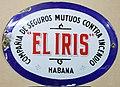 Fire Mark for El Iris Compania de Seguros Mutuos Contra Incendio in Havana, Cuba.jpg