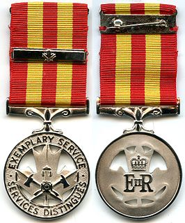 Fire Services Exemplary Service Medal