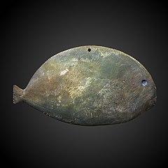 Fish-shaped kohol palette-D 1048