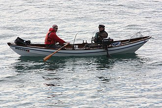 Recreational fishing - Fishing from a dory on Rosario Strait