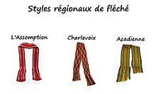 616eb50155d3 Three styles of the sash. From left to right  Assumption, Charlevoix and  Acadian.