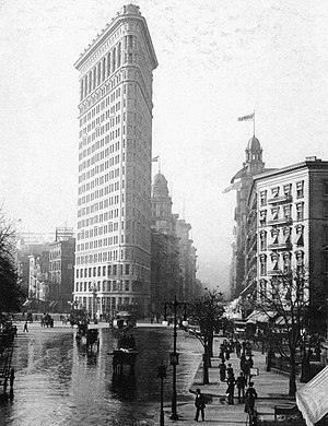 Madison Avenue - The Flatiron Building from Madison Square (c. 1903)