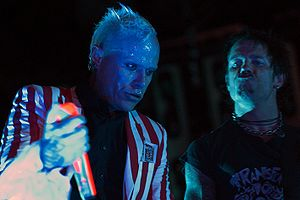 Keith Flint - Flint and live guitarist Rob Holliday