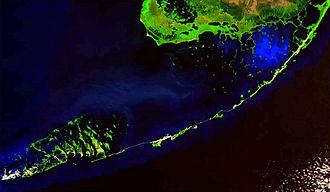 Florida Keys National Marine Sanctuary - View from space