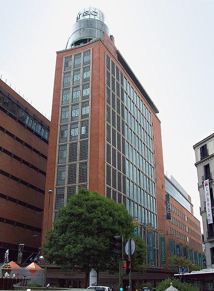 Primer centro de Galerías Preciados, en la calle Preciados (Madrid). En 1993 fue vendido a Fnac.