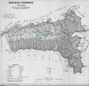 Fogaras County - Ethnic map of the county with data of the 1910 census (see the key in the description)