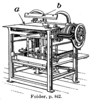 Folding machine - A folding machine.