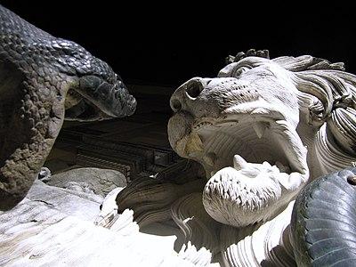 Lion sculpture in Grenoble, France