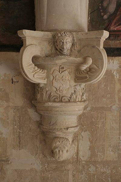 Chapiteau de la salle capitulaire de Fontevraud.