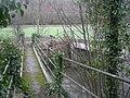 Footbridge on 'Three Woods Walk' - geograph.org.uk - 667752.jpg