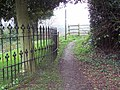 Footpath beside St Bartholomews Church, Sutton Waldron - geograph.org.uk - 375925.jpg