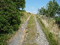 Footpath on a golf course track, Mytholmroyd (geograph 5849933).jpg