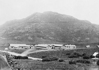 2/3rd Commando Squadron (Australia) - View over Foster training camp, Guerrilla Warfare School, towards Mount Oberon. Mount Oberon was used by members of the independent companies as part of their physical training course. (AWM photo)