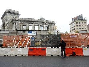 Forsyth Street - Forsyth Street Plaza being rebuilt, 2017