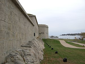 Fort Trumbull - Fort Trumbull facing Long Island Sound
