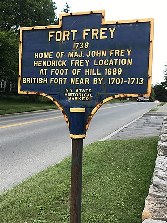 Frey House - Historic Marker for Fort Frey