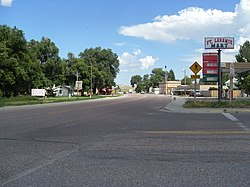 Main Street in Fort Laramie
