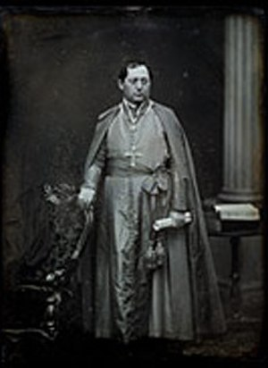 Cincinnati riot of 1853 - Daguerreotype of Cardinal Bedini to United States in 1853 (National Portrait Gallery, Smithsonian Institution, USA)