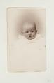 Fotografiporträtt på bebis, 1800-talets andra hälft - Hallwylska museet - 107675.tif