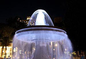 Fountains Square, Baku - Image: Fountain in night Baku, 2010 (6)