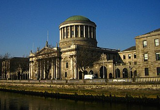 Judiciary of the Republic of Ireland - The Four Courts in Dublin, home to the Supreme Court and High Court.