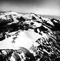 Four Peaked Mountain, mountain glaciers with firn line and bergschrund, August 26, 1969 (GLACIERS 6654).jpg
