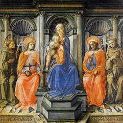 Madonna and Child  with Saints Francis, Damian, Cosmas and Anthony of Padua