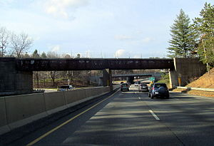 Fitchburg and Worcester Railroad - Former bridge over Massachusetts Route 2 in Leominster