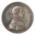 Framsida av medalj med bild av Karl August samt text, 1810 - Skoklosters slott - 99567.tif