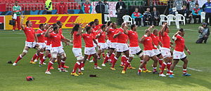 Sport in Tonga - France vs. Tonga at the 2011 Rugby World Cup.