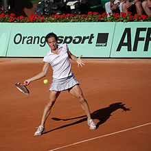 Schiavone durante il Roland Garros 2011