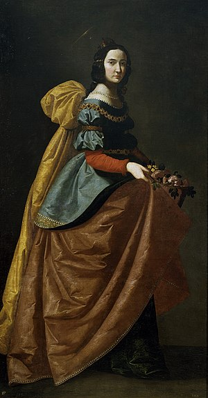 Casilda of Toledo - St. Elizabeth of Portugal, by Francisco de Zurbarán