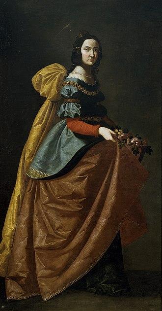 Casilda of Toledo - St. Elizabeth of Portugal, by Francisco de Zurbarán