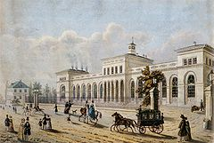 The Rothschild family revolutionised international finance. The Frankfurt terminus of the Taunus Railway was financed by the Rothschilds and opened in 1840 as one of Germany's first railways.