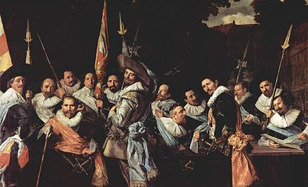 The Officers of the St Adrian Militia Company in 1633 Frans Hals 014.jpg