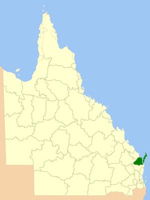 Fraser Coast Region - Location within Queensland