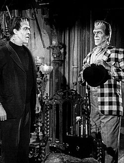 Fred Gwynne Herman and brother Charlie The Munsters